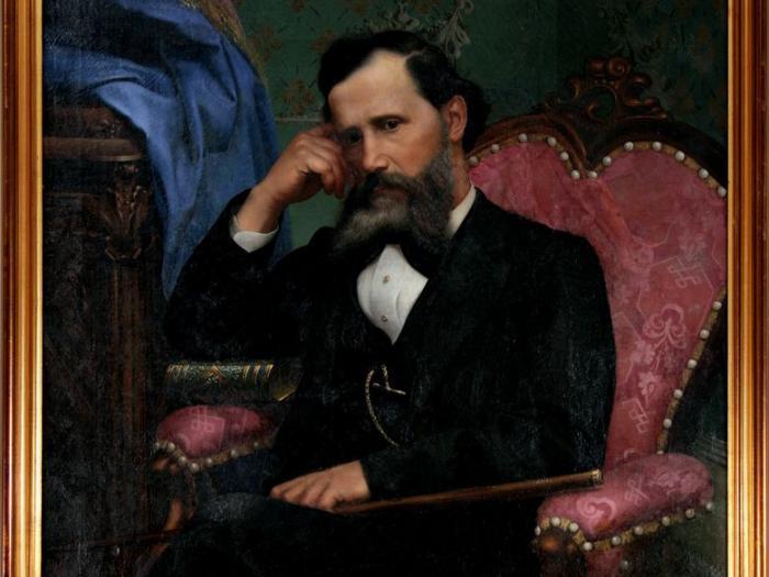 Otac u naslonjaču, 1877. Umjetnička galerija dubrovnik, Kuća Bukovac Cavtat